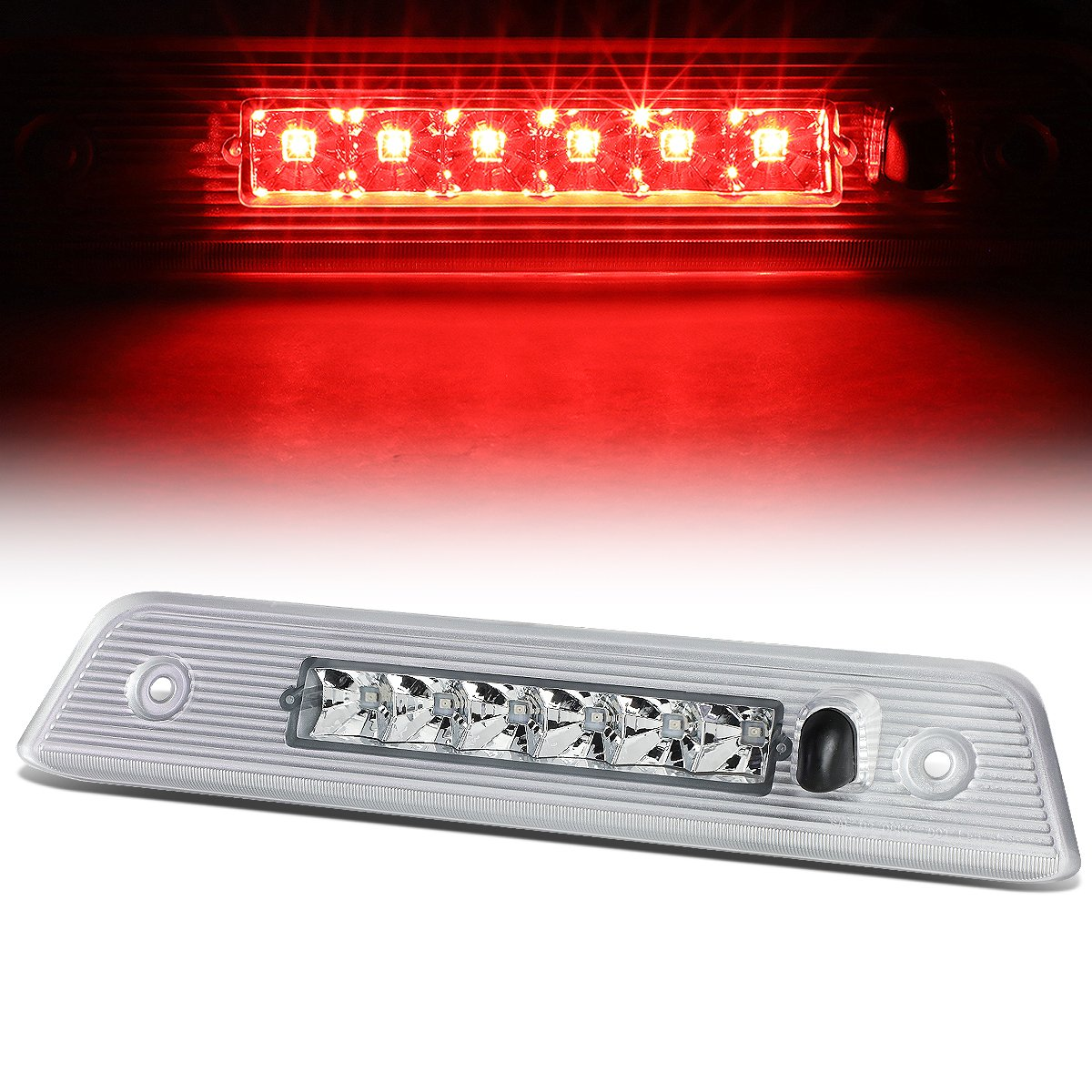 For Jeep Liberty KK Rear Hight Mount LED 3rd Third Brake Light (Red Lens) Auto Dynasty