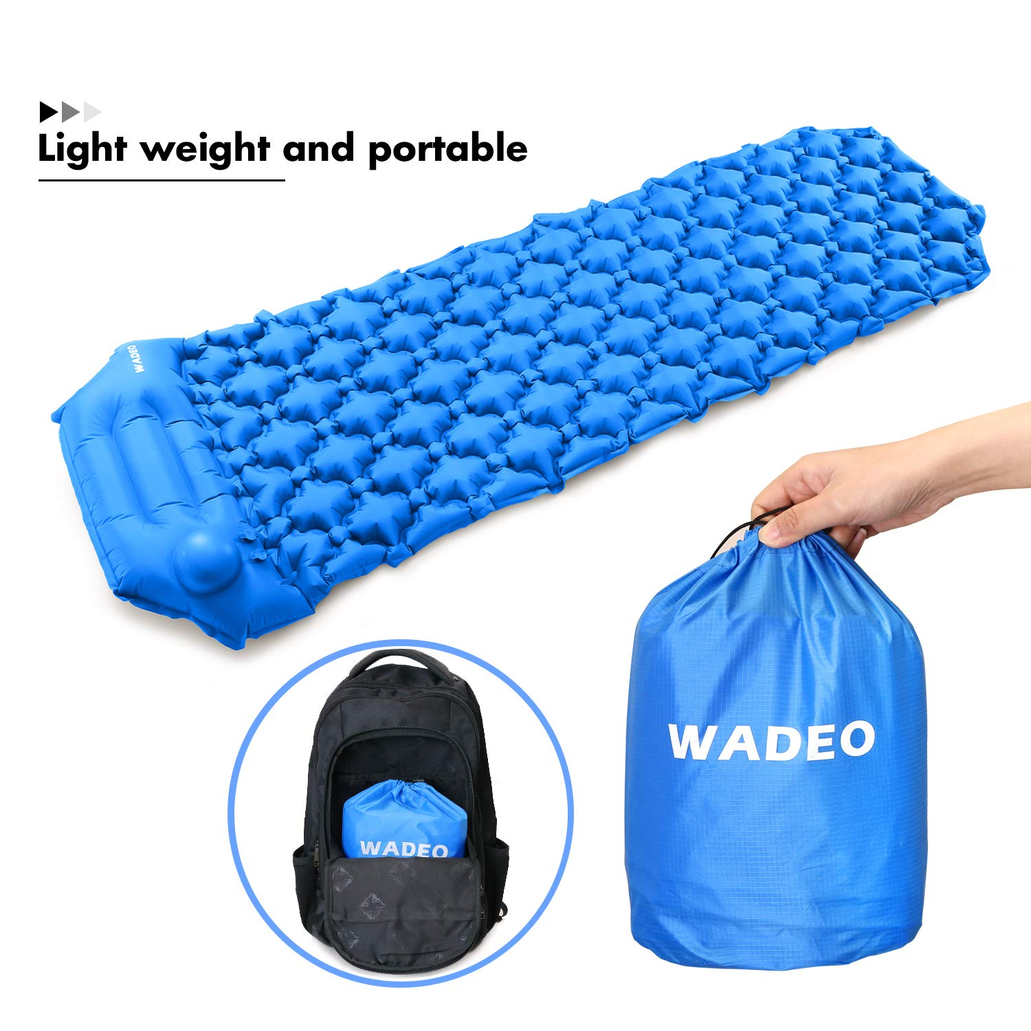 Amazon.com: WADEO Self Inflating Sleeping Pad for Camping ...