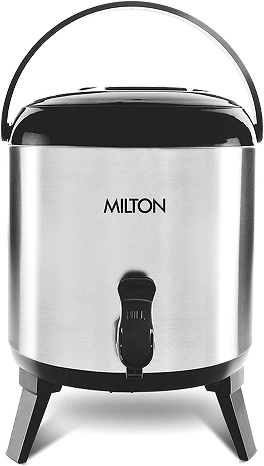 Milton Thermosteel Stellar 10 Vacuum Insulated Thermal Hot and Cold Beverage Dispenser, 10 Lt