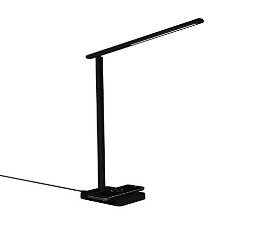 Amazon led desk lamp with qi wireless charger eye caring table led desk lamp with qi wireless charger eye caring table lamps dimmable lamp aloadofball Choice Image