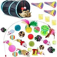 30 piezas de juguetes para gatos, juguetes interactivos para gatitos, surtidos de juguetes interactivos para mascotas…
