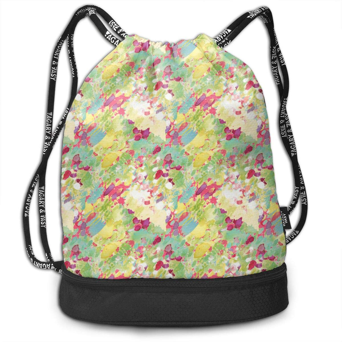 Frolicking Fields Drawstring Backpack Sports Athletic Gym Cinch Sack String Storage Bags for Hiking Travel Beach