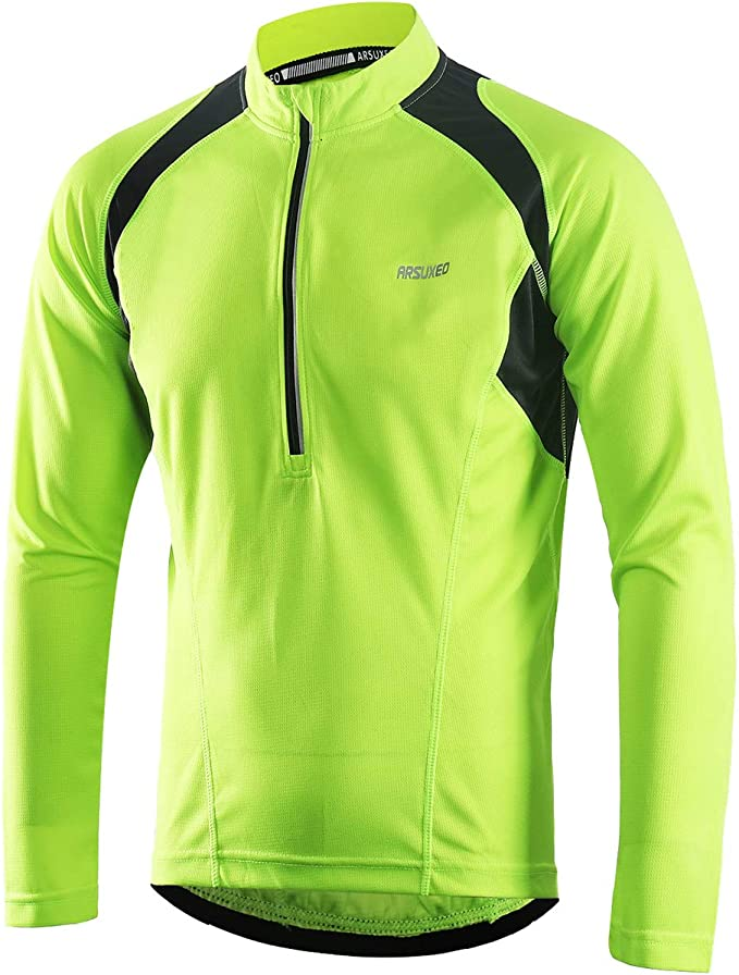 Arsuxeo Men's Half Zipper Cycling Jersey