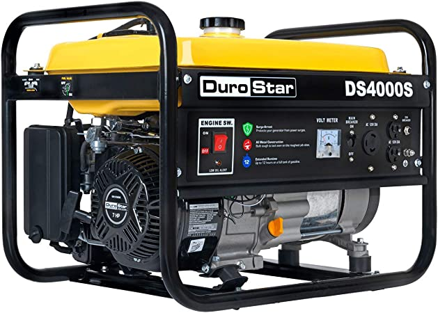 Amazon.com : DuroStar DS4000S 4000 Watt Portable Recoil Start Gas ...