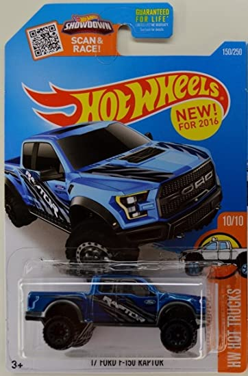 Amazon hot wheels 2016 hw trucks 17 ford f 150 raptor 150 amazon hot wheels 2016 hw trucks 17 ford f 150 raptor 150250 blue toys games voltagebd Gallery