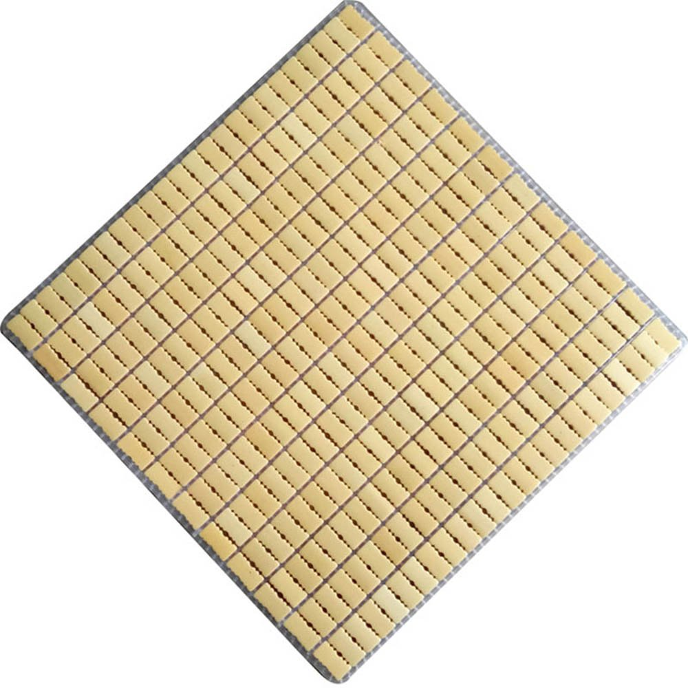 100% Handmade Mahjiong Carbonized Nature Bamboo Square Summer Cool Chair Seat Cushion for Office/car/sofa/restaurant/etc 45cm45cm Cooling Mat Laptop Pet Dog (Beige)