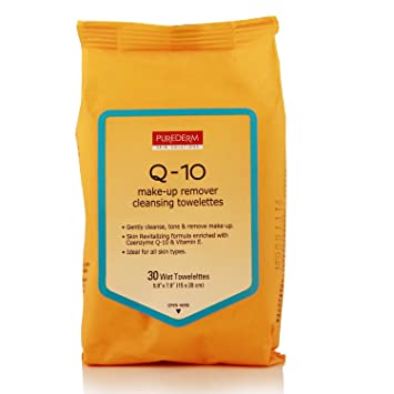 Purederm Q-10 Makeup Remover Cleansing Towelettes 30 count