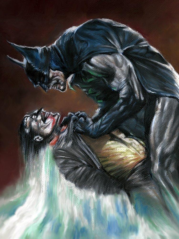 Batman Dark Knight Joker Canvas Art Classic Painting