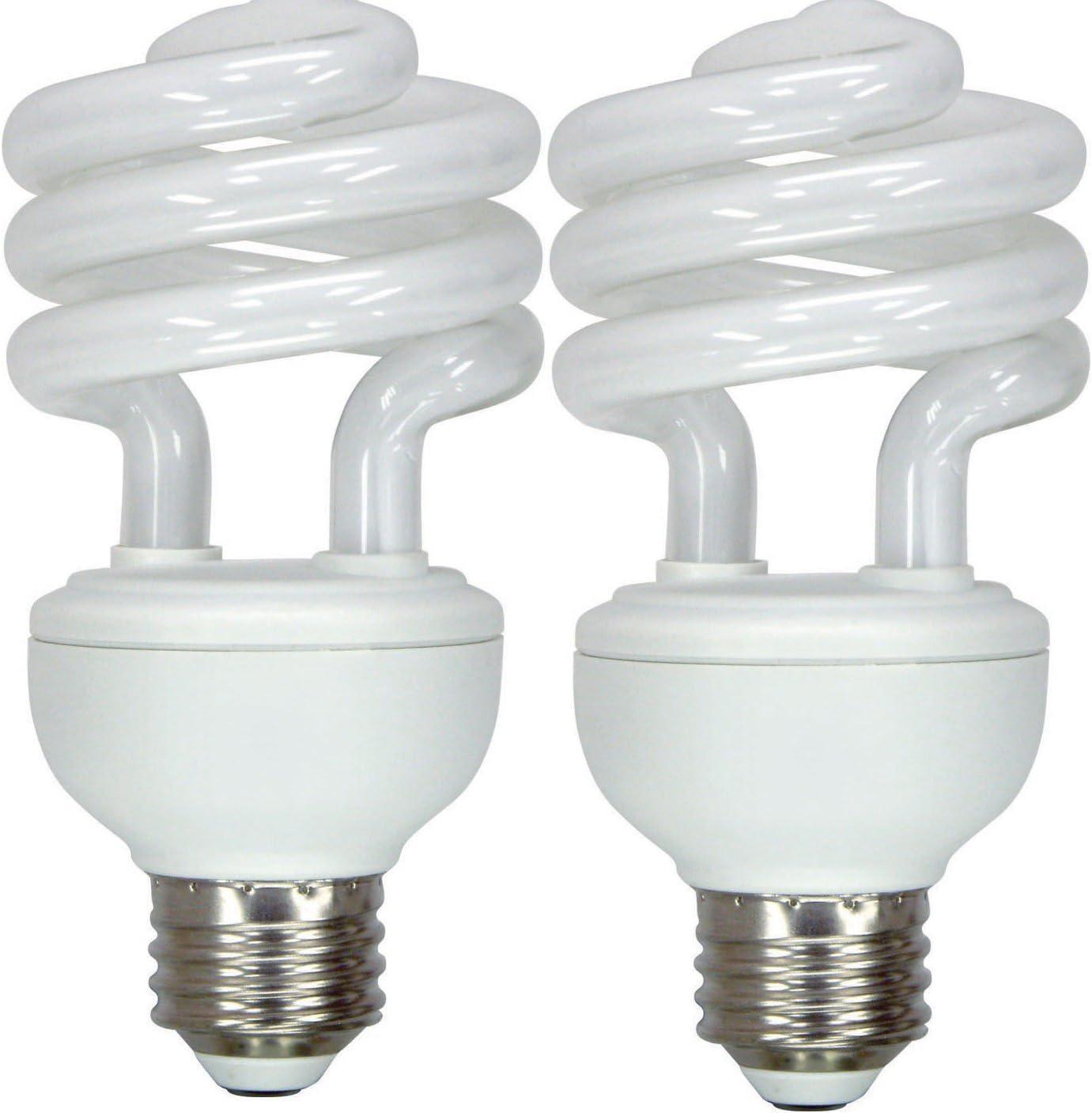 GE Lighting 15519 Energy Smart Spiral CFL 23-Watt (100-watt replacement) 1600-Lumen T3 Spiral Light Bulb with Medium Base, 2-Pack