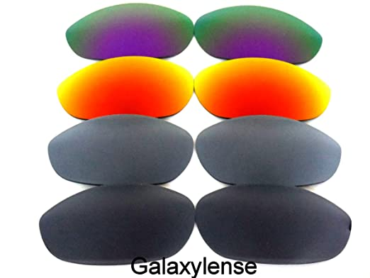 495fc92a84 Amazon.com  Galaxylense Replacement Lenses for Oakley Monster Dog  Black Gray Red Purple Color 4 Pairs