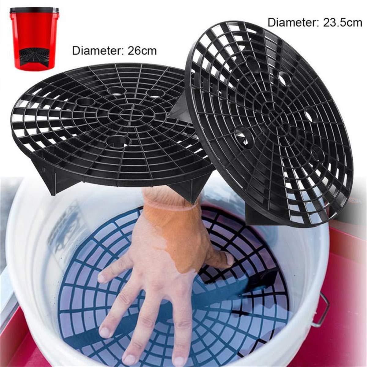 Cozylkx Grit Guard Insert Washboard Bucket Insert Separate Dirt for Car Wash Fit 23.5CM Diameter Bucket Black