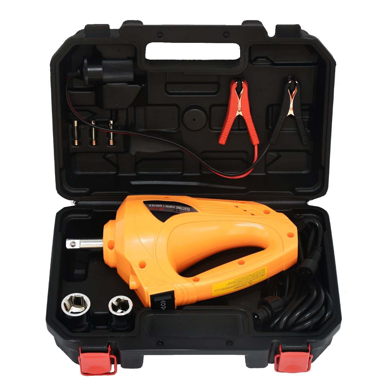 MarchInn 11Amp 340N.M 250 ft. lb 12-Volt 1 2 Electric Impact Wrench Gun Kit