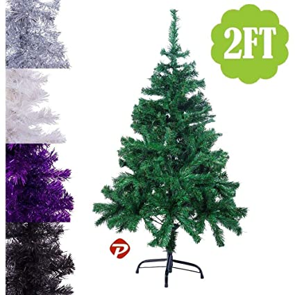 Amazon Com 2ft Small Pvc Artificial Christmas Tree Unlit Black