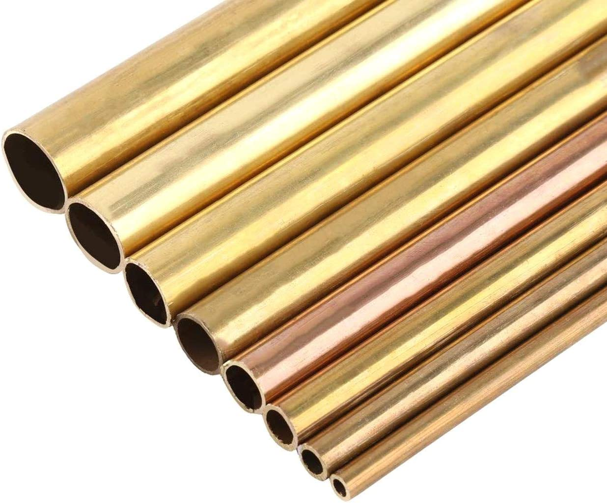Agger 1PC 50cm Brass Tube Wall Thickness Brass Tube Round Length Model Making Tube Brass Tubing