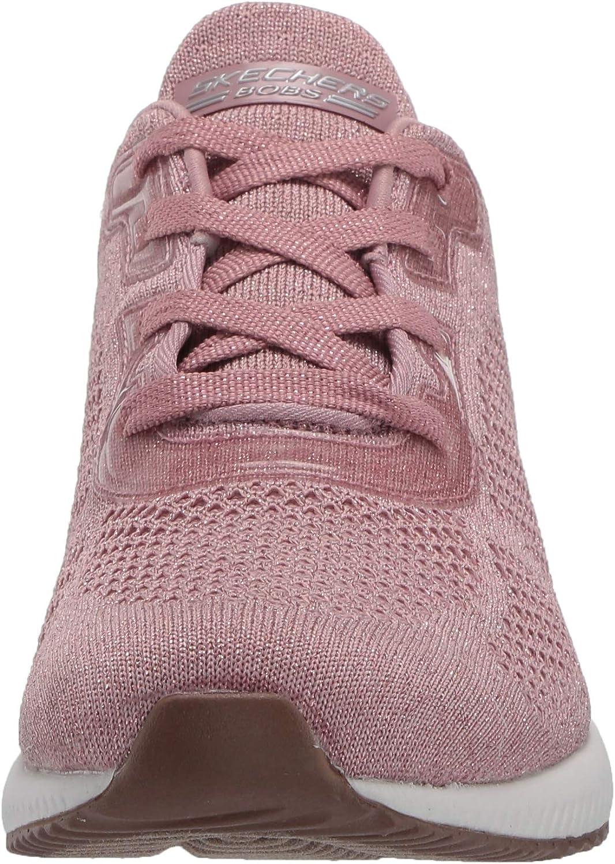 Skechers Bobs Squad-Glitz Maker, Baskets Femme Rose Pink Sparkle Engineered Knit Pnk