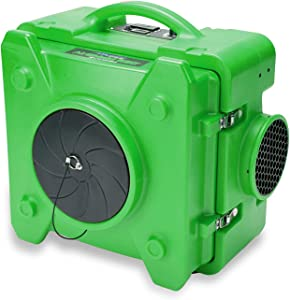 BlueDri BD-AS-550-GN AS-550 Green Filtration System Negative Machine Airbourne Cleaner Hepa Scrubber Air Purifier, Single Unit