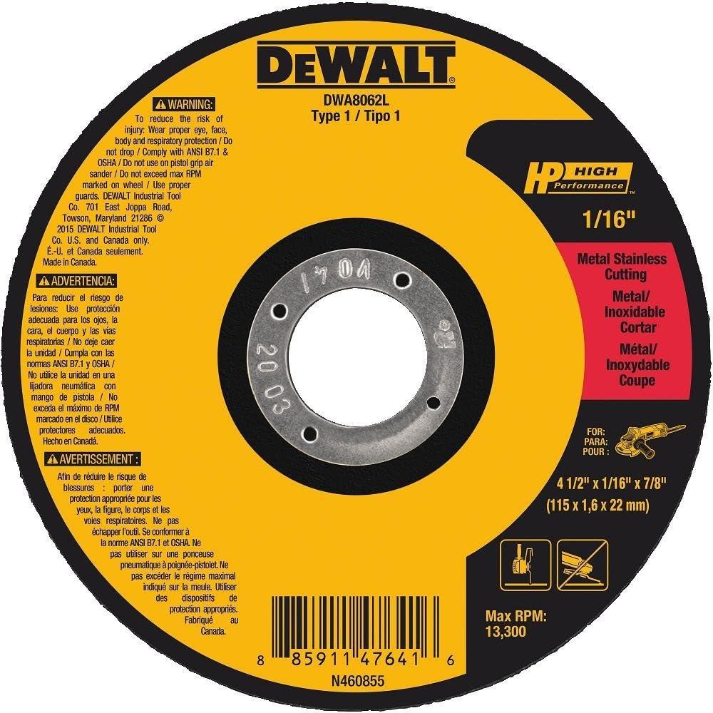 5-Inch X .045-Inch X 7//8-Inch DEWALT DW8852 XP Cutoff Wheel