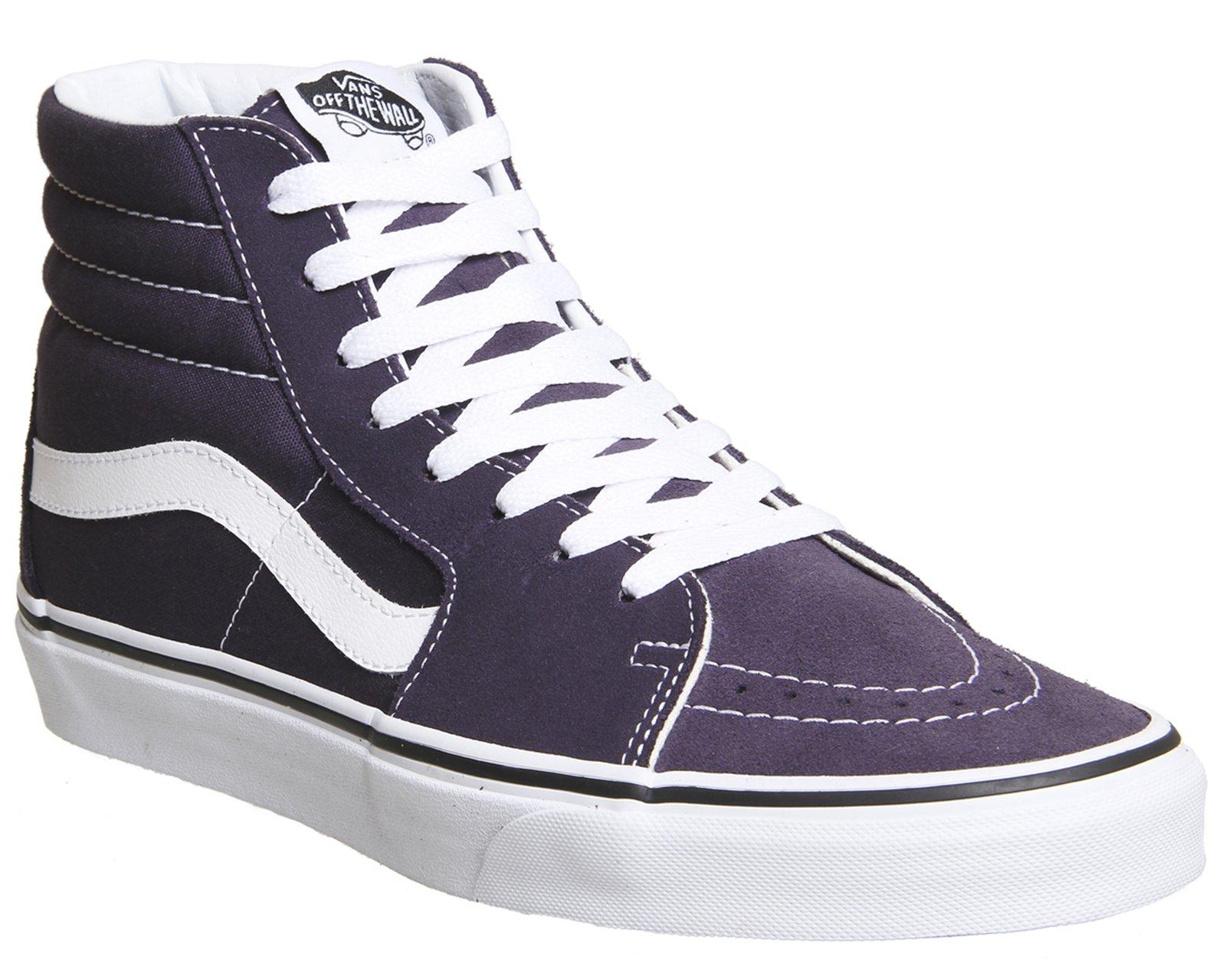 a4aab3858e4e2 Galleon - Vans Sk8 Hi Shoes 8.5 B(M) US Women/7 D(M) US Nightshade True  White
