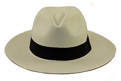 Tumia - Cappello Panama in stile Fedora originale - arrotolabile - tessuto  a mano.  Amazon.it  Abbigliamento 118447e3ca3f