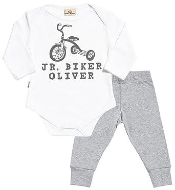 Amazon sr personalised jr biker custom name baby babygrow sr personalised jr biker custom name baby babygrow jersey trousers baby outfit set negle Choice Image