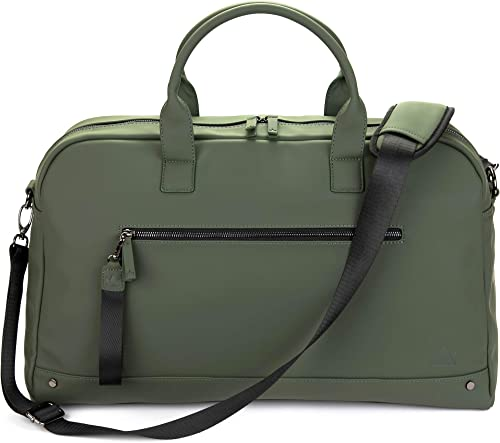 The Friendly Swede Weekender Bag, Duffle Overnight Bag – High-end Vreta Collection – 35L Travel Duffel, Weekend Bag For Women and Men Green