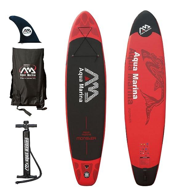 Amazon.com: Aqua Marina Tabla Monster Paddle Surf inflable ...