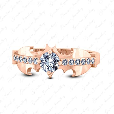 Amazon Com Gemstar Jewellery 14k Rose Gold Finish Sterling Silver