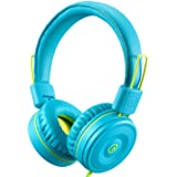 Kids Headphones-noot products K22 Foldable Stereo Tangle-Free 3.5mm Jack Wired Cord On-Ear Headset for Children/Teens/Boys/Gi