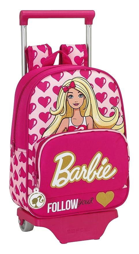Safta 077008 Barbie Mochila Infantil, Color Rosa