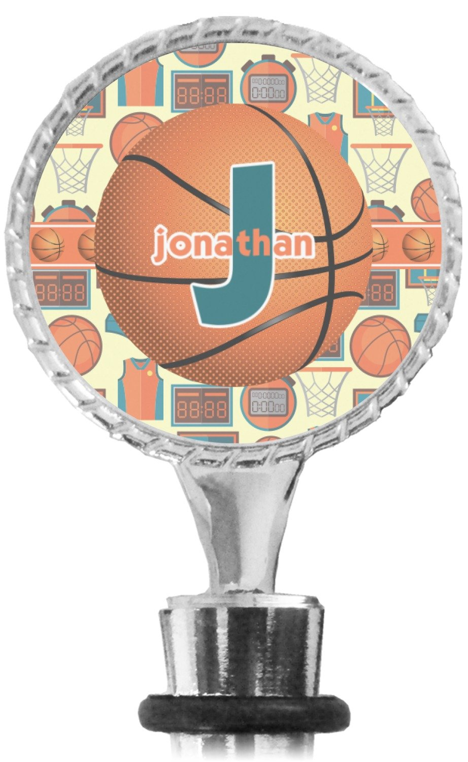 Basketball Wine Bottle Stopper (Personalized) Mom Innovations