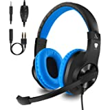 Gaming headset with Mic for Xbox One, PS4, Mobile, PC, Balleen.e Noise Canceling Over-ear Headphone with Surrounding Sound, Soft Memory Earmuffs for Computer Laptop Nintendo Switch Controller