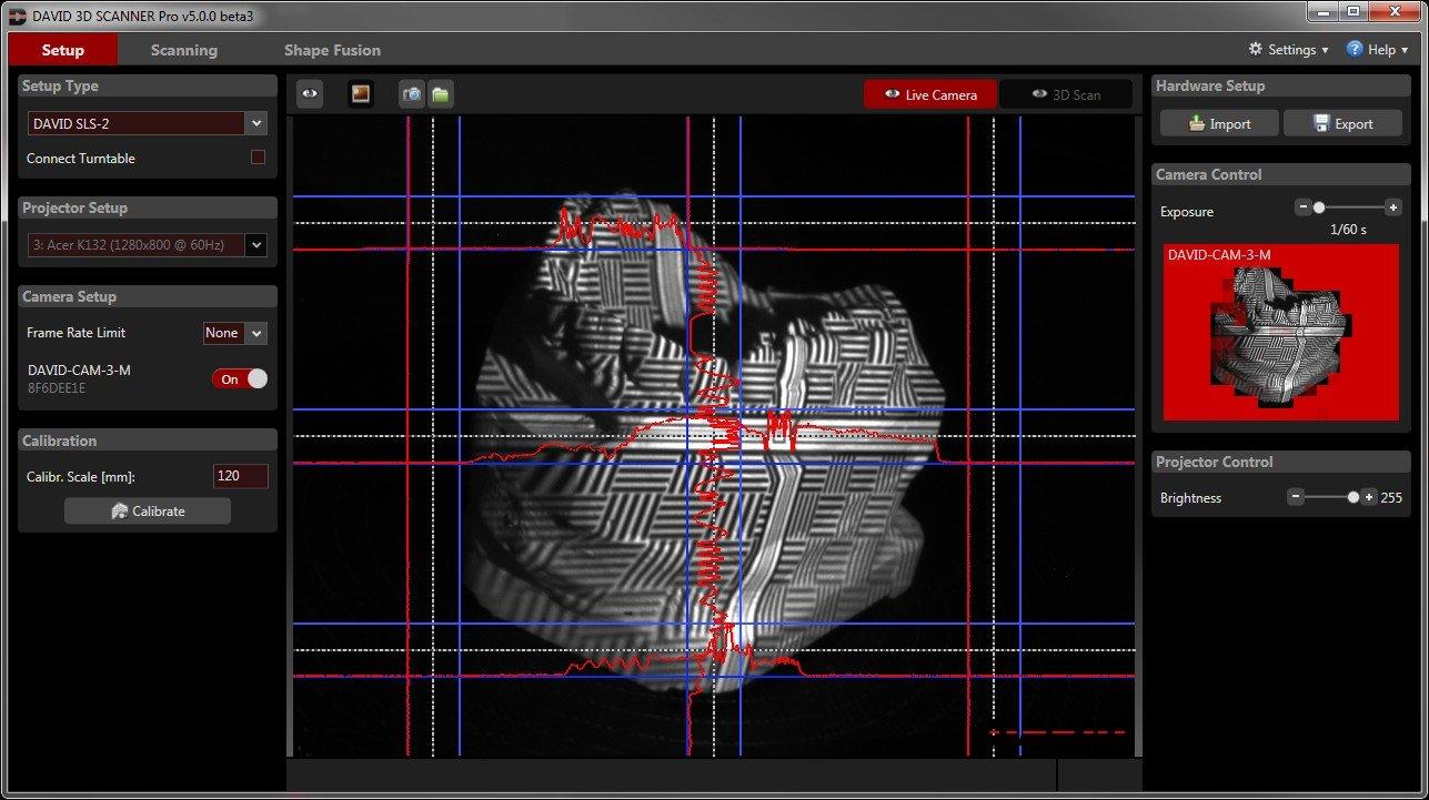 DAVID SLS-3 3D Scanner + Stereo Camera Upgrade Kit