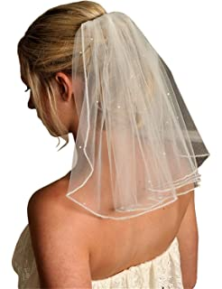 Twigs /& Honey Womens Simple Chapel Length Bridal Veil with 26 Blusher Ivory One Size Twigs /& Honey Women/'s Accessories 357 chap26ivo