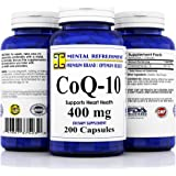 Mental Refreshment: Pure CoQ10 400Mg 200 Capsules (1 Bottle)