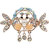 Totoroforet Kissing Swans True Love/ Swans in Love Hair Claw/ Clip with Pendant-Small Size(Sky Blue)