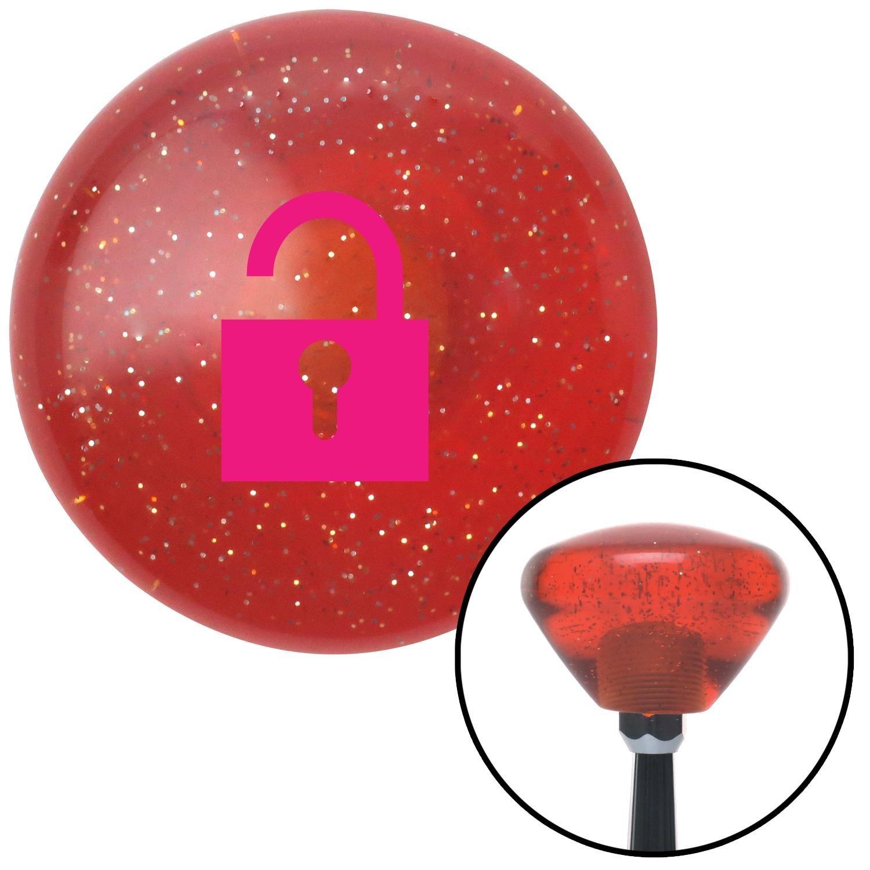 American Shifter 176537 Orange Retro Metal Flake Shift Knob with M16 x 1.5 Insert Pink Unlocked Symbol