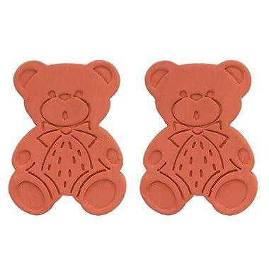 Brown Sugar Bear Original Brown Sugar Saver and Softener, Terracotta, Set of 2