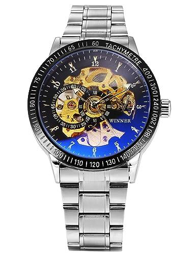 AMPM24 PMW510 - Reloj Caballero Automático de Acero Inoxidable Plateado: Amazon.es: Relojes