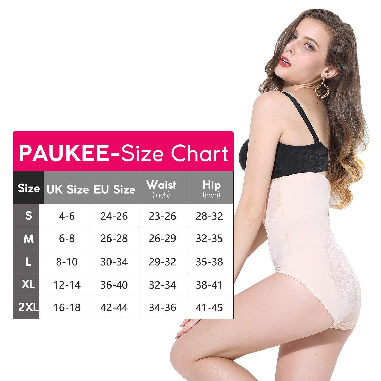 PAUKEE Shapewear Damen Miederslip Bauch Weg Unterw/äsche Hohe Taille Shaping H/öschen Formslip Taillenformer Miederhose Figurformende Unterhose f/ür Frauen