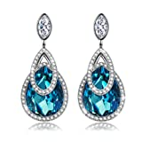 "Amazon Price History for:J.NINA ""Alpine lakes"" Drop Earrings with Swarovski Crystals, Waterdrop Dangle for Pierced Earrings"