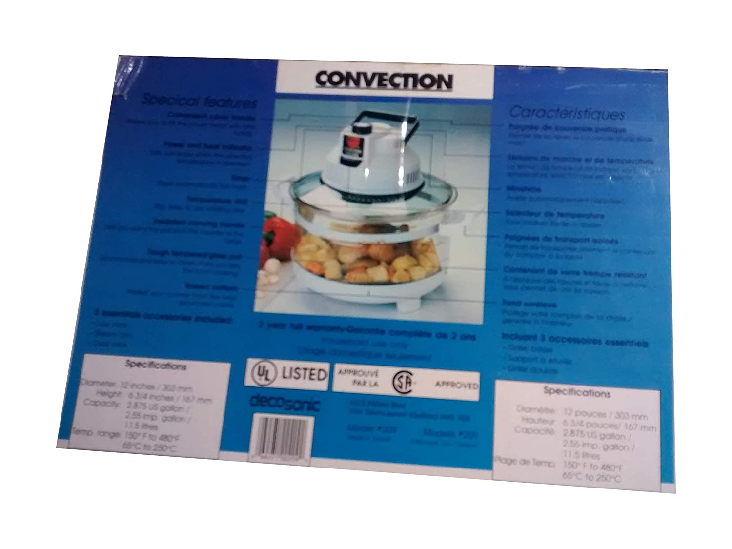 Decosonic Convection Four Roaster Oven