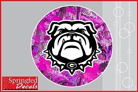 Amazon.com: Georgia Bulldogs Spike perro mascota on pink ...