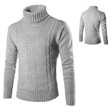 9e425435de98d dalina Men Jacquard Turtleneck Sweater Top Fashion Solid British ...