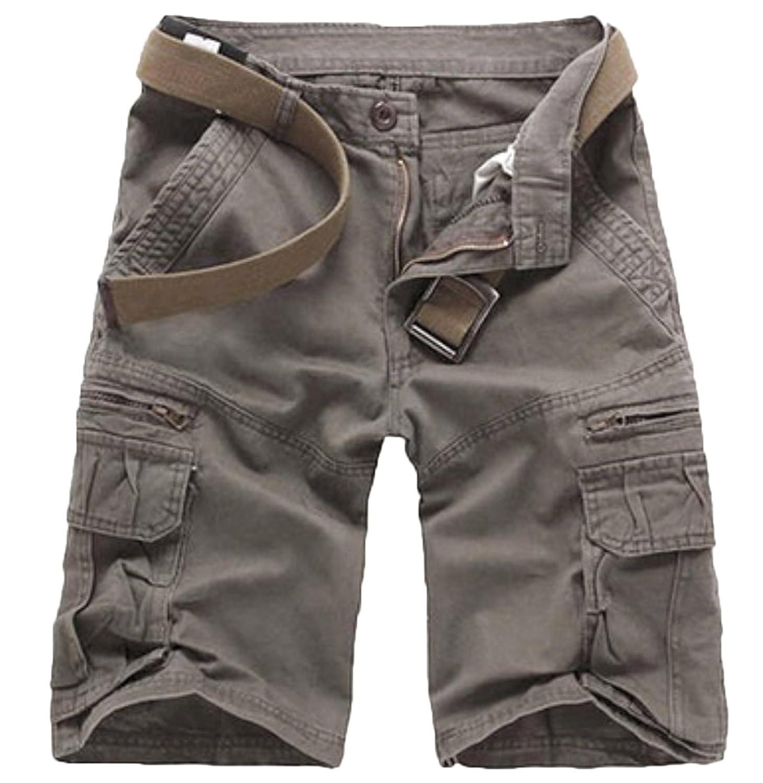 Elonglin Mens Cargo Shorts Cropped Outdoor Vintage Bermuda Shorts No Belt:  Amazon.co.uk: Clothing