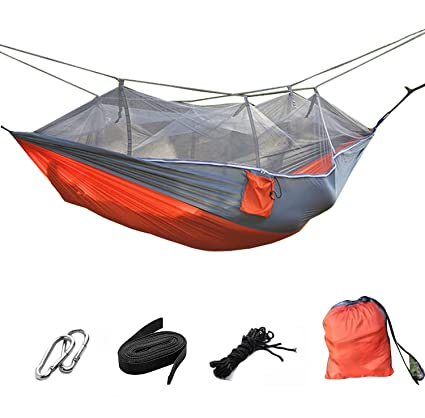 Suyi Portable Foldable Double Camp Hammock Mosquito Net Hammock Tree  Hammocks Tent Travel Bed,Premium
