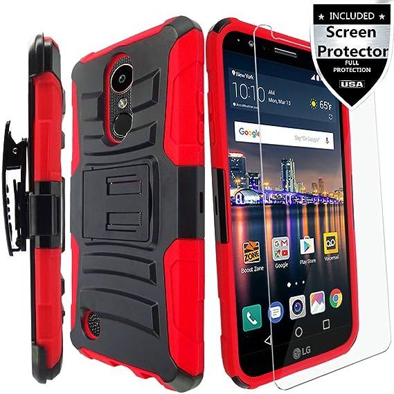 low priced 7dc0f c30a5 LG Aristo/LG Aristo 2/LG Aristo 3/LG Aristo 2 Plus/LG Rebel 2/LG Rebel 3/LG  Rebel 4 LTE Case,LG Risio 2/LG Risio 3 Case with HD Screen Protector,IDEA  ...
