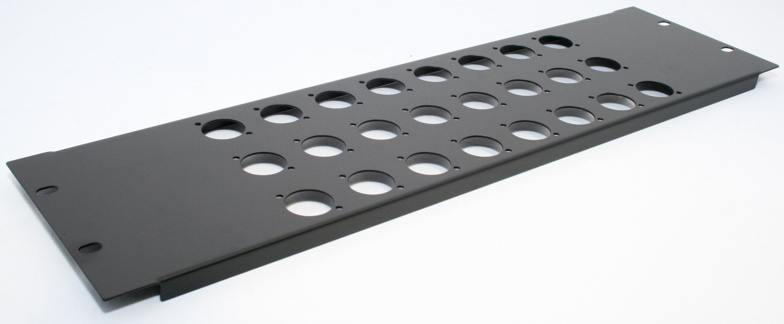 Penn Elcom R1269/3UK/24 3U NEUTRIK PUNCHED RACK PANEL W/ 24 HOLES D-SIZE XLR, SpeakON by Penn Elcom
