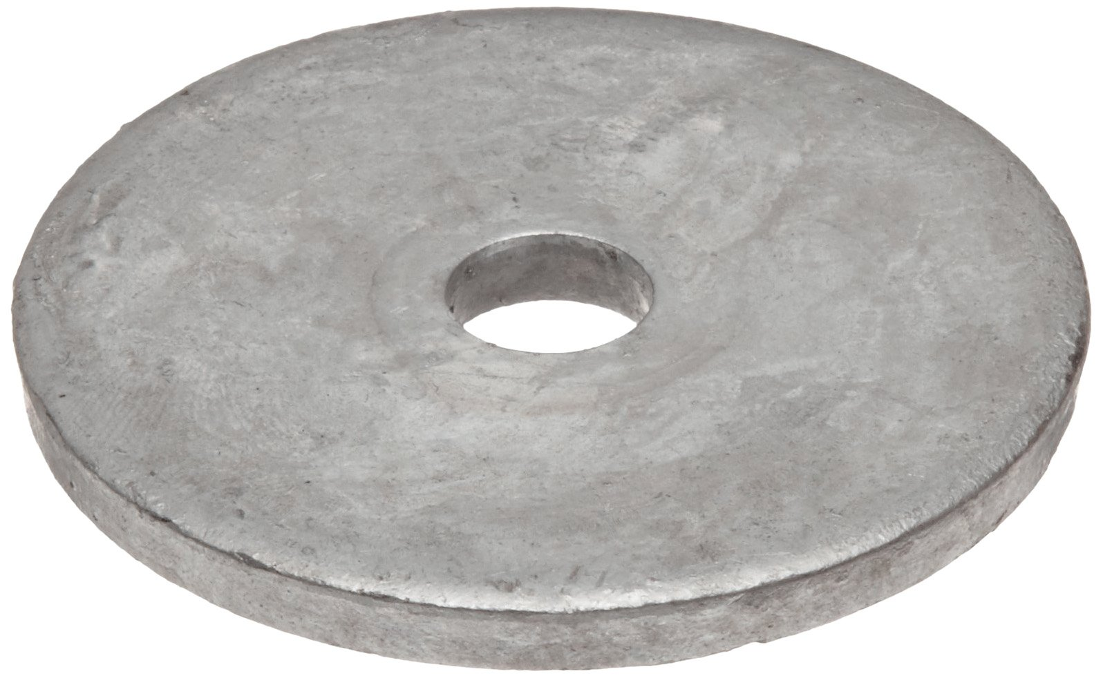 Steel Flat Washer, Galvanized Finish, 1/2'' Hole Size, 0.688'' ID, 3'' OD, 0.250'' Nominal Thickness, Made in US (Pack of 5)