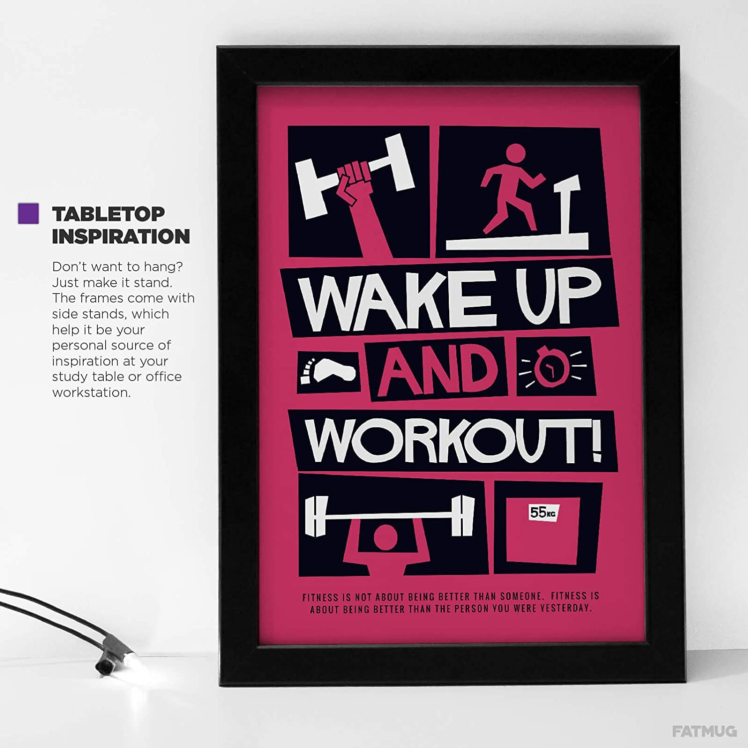 Buy Gym Posters Framed |Motivational Posters for Room - Daily ...