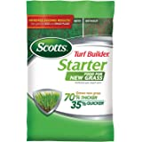 Scotts Turf Builder Starter Food for New Grass, 3 lb. - Lawn Fertilizer for Newly Planted Grass, Also Great for Sod and Grass